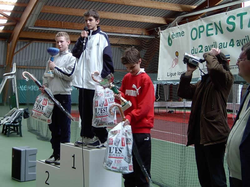 Open Stanislas Nancy avril 2004 titre et podium