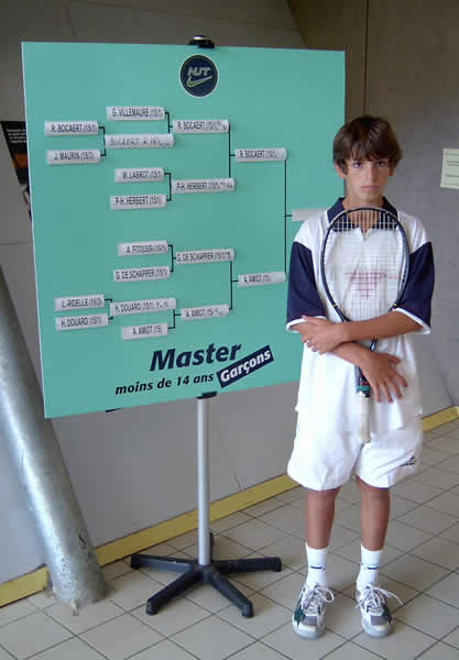 Nike Junior Tour septembre 2004  devant Tableau
